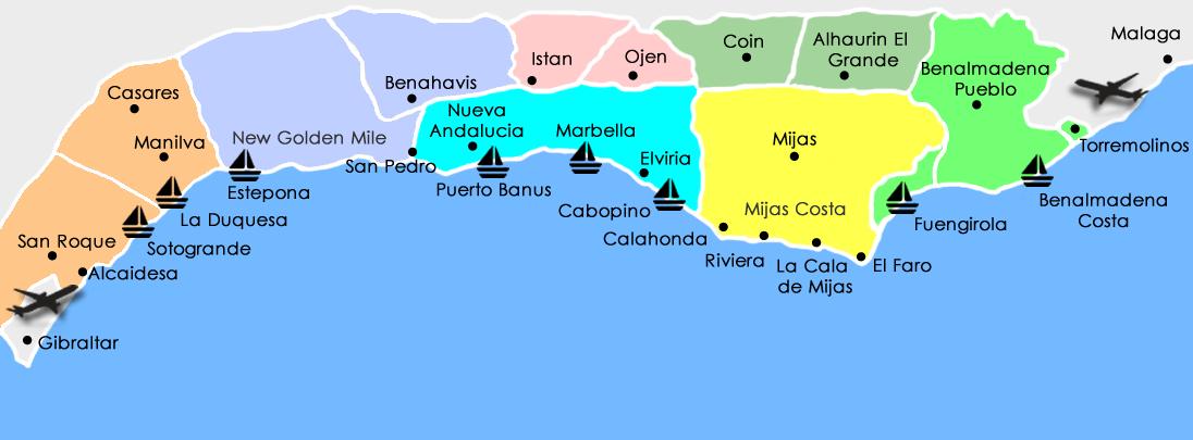 Mapa De Andalucia Costa Del Sol.Properties Apartments Villas For Sale In Costa Del Sol